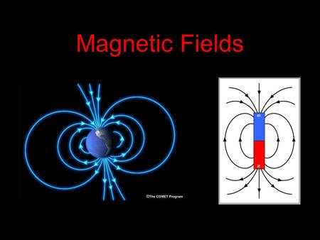 Magnetic Fields. Magnetic Field of a bar magnet I. Field of a bar magnet The forces of repulsion and attraction in bar magnets are due to the magnetic.