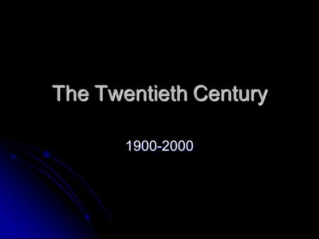 The Twentieth Century 1900-2000. Nineteenth-Century Thinkers Undermining Victorian Ideas Charles Darwin Charles Darwin Origin of Species set forth a theory.