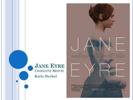 J ANE E YRE C HARLOTTE B RONTE Katie Herbel. C HARACTERS Jane Eyre Protagonist and narrator Determined, intelligent, and honest Rich with experience of.