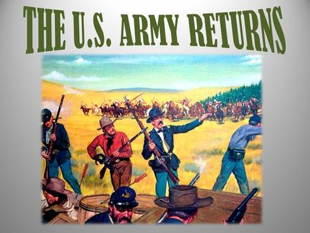 When the Civil War ended – U.S. Troops return to Texas – Did not protect frontier; worked on restoring federal authority (Reconstruction) – Opportunity.