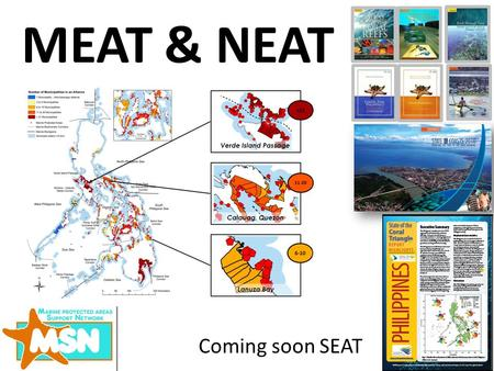 MEAT & NEAT Coming soon SEAT. SHARING FORUMS MPA FORUM CORAL REEF SUMMIT PARA EL MAR PAMS.