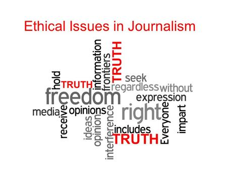 Journalism genres