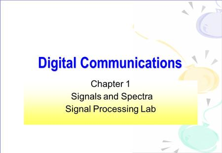 communications chapter 1