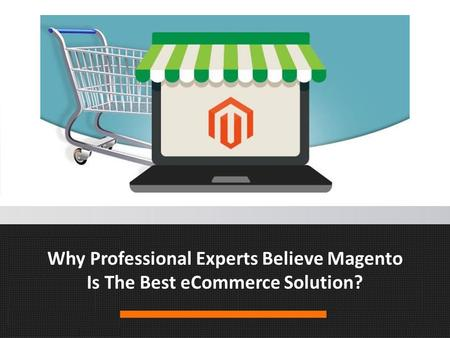 Why Professional Experts Believe Magento Is The Best eCommerce Solution?