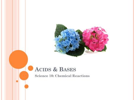 A CIDS & B ASES Science 10: Chemical Reactions. PROPERTIES OF ACIDS A chemical compound that produces hydrogen ions (H + ) when dissolved in water ex.HCl.