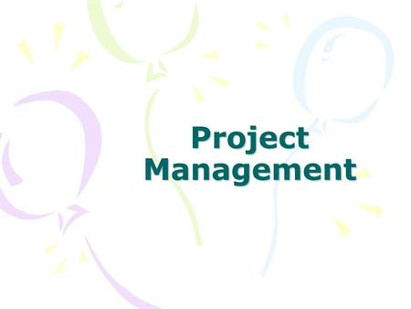Project Management. Definition of a Project A project is a temporary sequence of tasks with a distinct beginning and end that is undertaken to create.