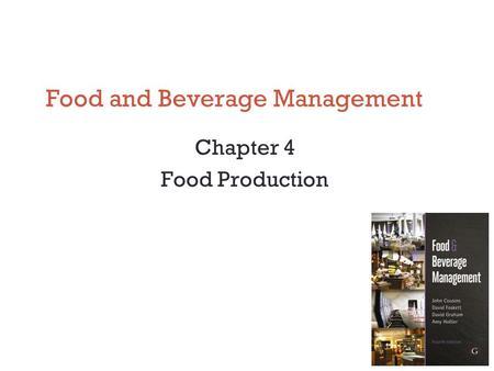 SCI00419 - Food and Beverage Management (2018)