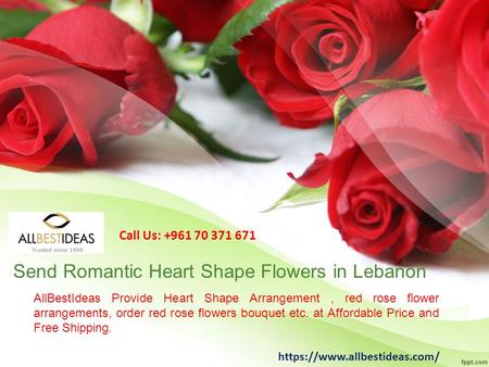 AllBestIdeas Provide Heart Shape Arrangement, red rose flower arrangements, order red rose flowers bouquet etc. at Affordable Price and Free Shipping.