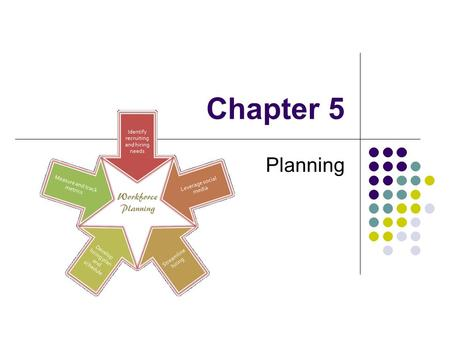Chapter 5 Planning. Setting goals and deciding how to achieve them. Coping with uncertainty by formulating future courses of action to achieve specified.