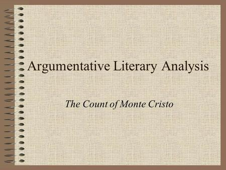 Essay count of monte cristo