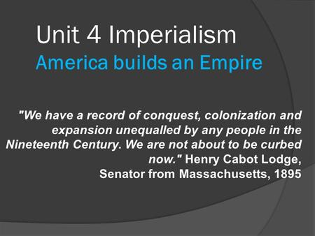 essays on american imperialism in the nineteenth century There was a great deal of imperialism in the 19th century, led by mostly westerners from europe imperialism is the act in which one nation extends its rule over another.