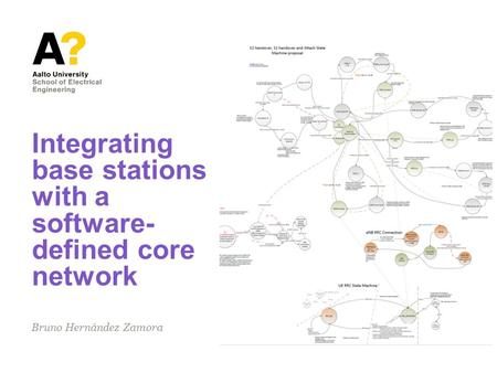 Integrating base stations with a software- defined core network Bruno Hernández Zamora.