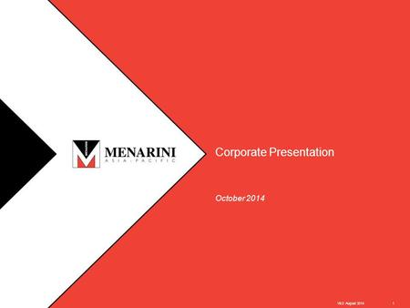 – STRICTLY CONFIDENTIAL – Corporate Presentation October 2014 V6.0 August 20141.
