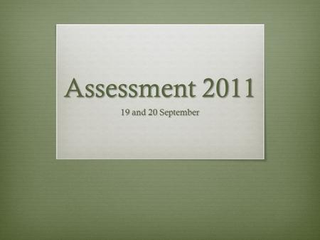 Assessment 2011 19 and 20 September. Agenda  Overview of the purpose and process of student learning assessment at UMD  Past results of student learning.