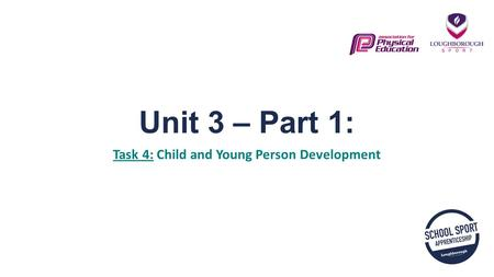 Unit 3 – Part 1: Task 4: Child and Young Person Development.