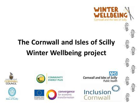 The Cornwall and Isles of Scilly Winter Wellbeing project.