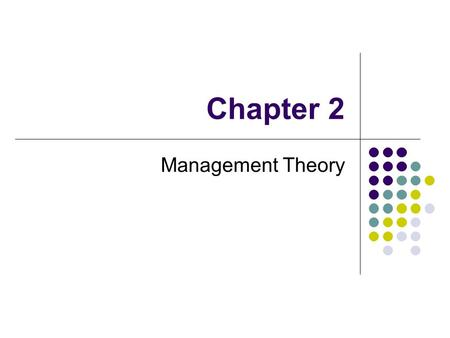 "Chapter 2 Management Theory. Peter Drucker ""The best way to predict the future is to create it."" … Peter Drucker Peter Drucker – the creator and inventor."