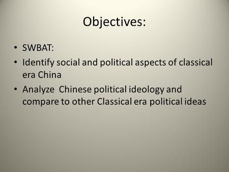 china in the classical era