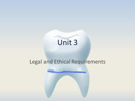 Unit 3 Legal and Ethical Requirements. Laws StatutesRules and Regulations Title 172 NAC Chapter 53.