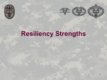 1 Resiliency Strengths. 2 Manage your health Be proactive in problem-solving Increase self-strengths: self-esteem, self- confidence, and self-concept.