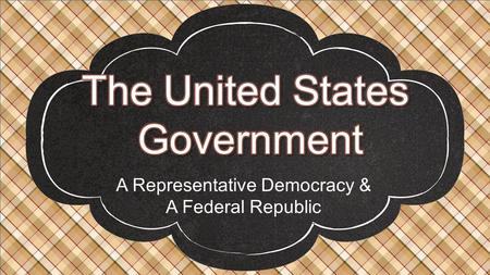 A Representative Democracy & A Federal Republic.