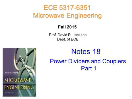 Notes 18 ECE Microwave Engineering