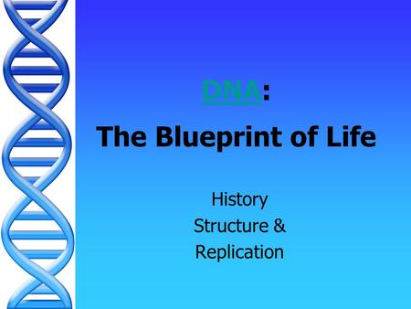 DNADNA: The Blueprint of Life History Structure & Replication.