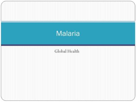 Global Health Malaria. Transmission Malaria is spread by mosquitoes carrying parasites of the Plasmodium type. Four species of Plasmodium are responsible.