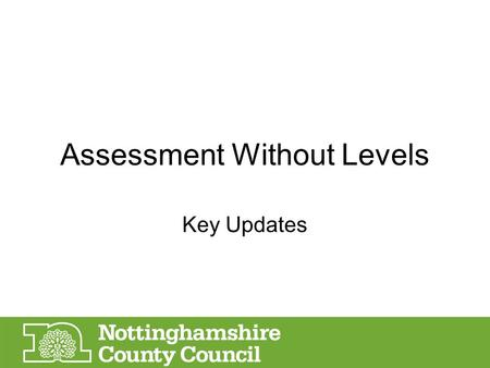 Assessment Without Levels Key Updates. Assessment timetable (1) WhenWhat April- June 2015Final set of National Assessments in Y2 and Y6 under 'old' National.