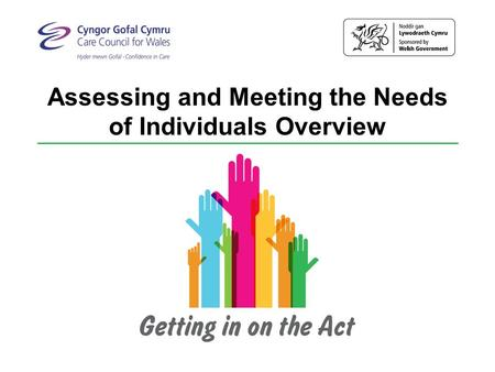 Assessing and Meeting the Needs of Individuals Overview.