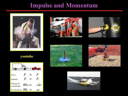 "Impulse and Momentum youtube. Linear Momentum ""The change of motion is ever proportional to the motive force impressed; and is made in the direction of."
