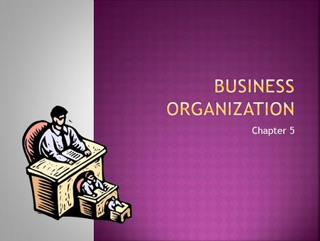 Chapter 5. 1. Business in the U.S. Economy 2. Forms of Business Ownership 3. Organizational Structure for Businesses EQ: What are the major forms of business.