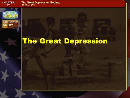 The Great Depression. M/C 1-2a Section 1-5 The Election of 1928 The 1928 election placed former head of the Food Administration and secretary of commerce,