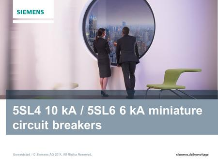 5SL4 10 kA / 5SL6 6 kA miniature circuit breakers