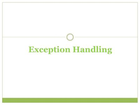 Exception Handling. VB.NET has an inbuilt class that deals with errors. The Class is called Exception. When an exception error is found, an Exception.