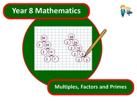 s.html Year 8 Mathematics Multiples, Factors and Primes.