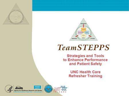 Strategies and Tools to Enhance Performance and Patient Safety UNC Health Care Refresher Training.