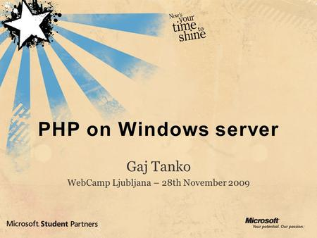 PHP on Windows server. About PHP history, usage [ 3 ] Basics about PHP Open, free, object oriented (recently added namespaces), procedural, type free.