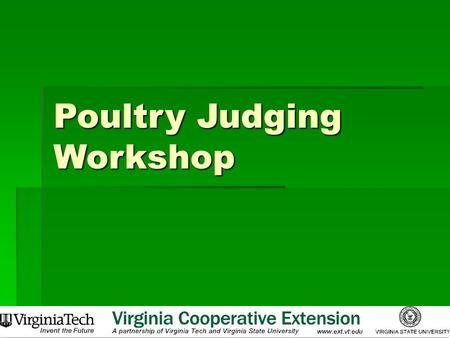 Poultry Judging Workshop
