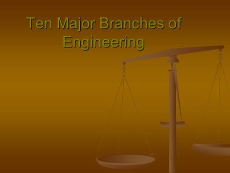 Ten Major Branches of Engineering. Aeronautics and Astronautics Flight captures human imagination. Aeronautics and astronautics are among the most popular.