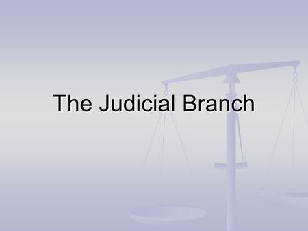 The Judicial Branch. Found in Article III (3) of the Constitution Found in Article III (3) of the Constitution Is in charge of: Is in charge of: The Courts.
