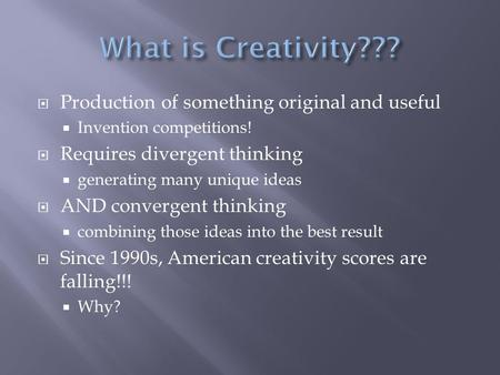 what is creativity essay