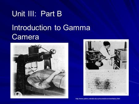 Introduction to Gamma Camera