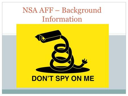 NSA AFF – Background Information. Plan The U.S. Supreme Court should hold in American Civil Liberties Union (ACLU) v. Clapper that the collection of metadata.