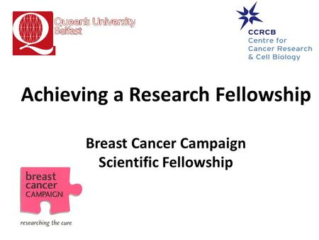 Achieving a Research Fellowship Breast Cancer Campaign Scientific Fellowship.