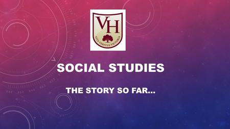 SOCIAL STUDIES THE STORY SO FAR…. Let's have a look at some of the topics we have studied and discussed so far in Social Studies.