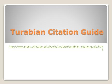 Turabian Citation Guide  l.