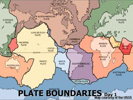 PLATE BOUNDARIES Day 1. A. Geographic Puzzle 1. Alfred Wegener - a scientist that first believed that the continents fit together like a puzzle a) Ex:
