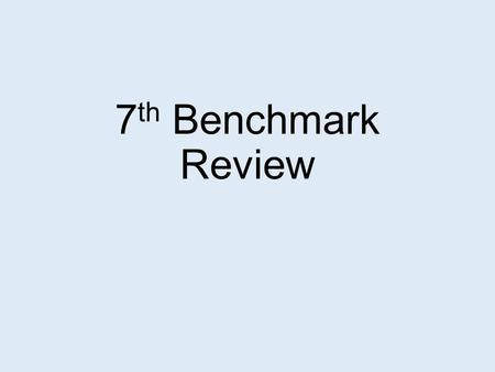7th Benchmark Review.