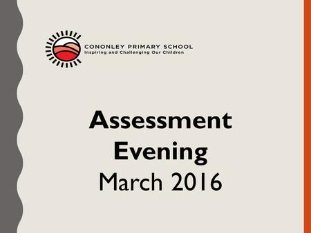 Assessment Evening March 2016. Previously… Children's attainment was described in terms of levels. 5b 5c 4a 4b 4c 3a 3b 3c 2a 2b 2c 1a 1b 1c Expectation.